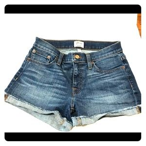 """J. Crew women's denim shorts 3"""" inseam"""